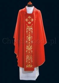 Red contemporary chasuble 1101