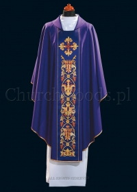 Purple contemporary chasuble 1101