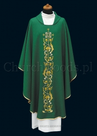 Green contemporary chasuble 1081