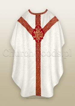 WHITE/RED - SEMI-GOTHIC LOW MASS SET
